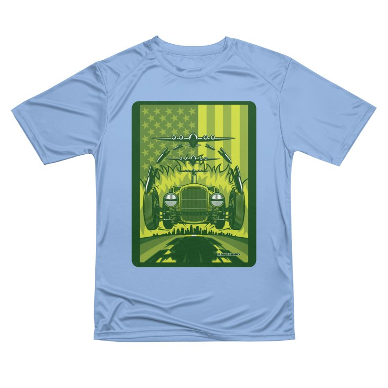 THE GREEN AGENDA (fallout edition) Women's Performance Unisex T-Shirt by Max Grundy Design's Artist Shop
