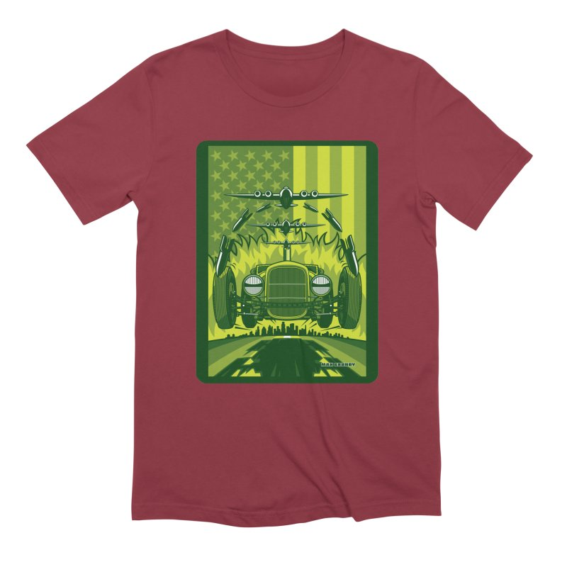 THE GREEN AGENDA (fallout edition) Men's Extra Soft T-Shirt by Max Grundy Design's Artist Shop
