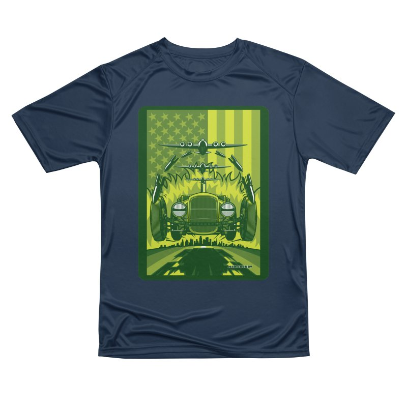 THE GREEN AGENDA (fallout edition) Men's Performance T-Shirt by Max Grundy Design's Artist Shop