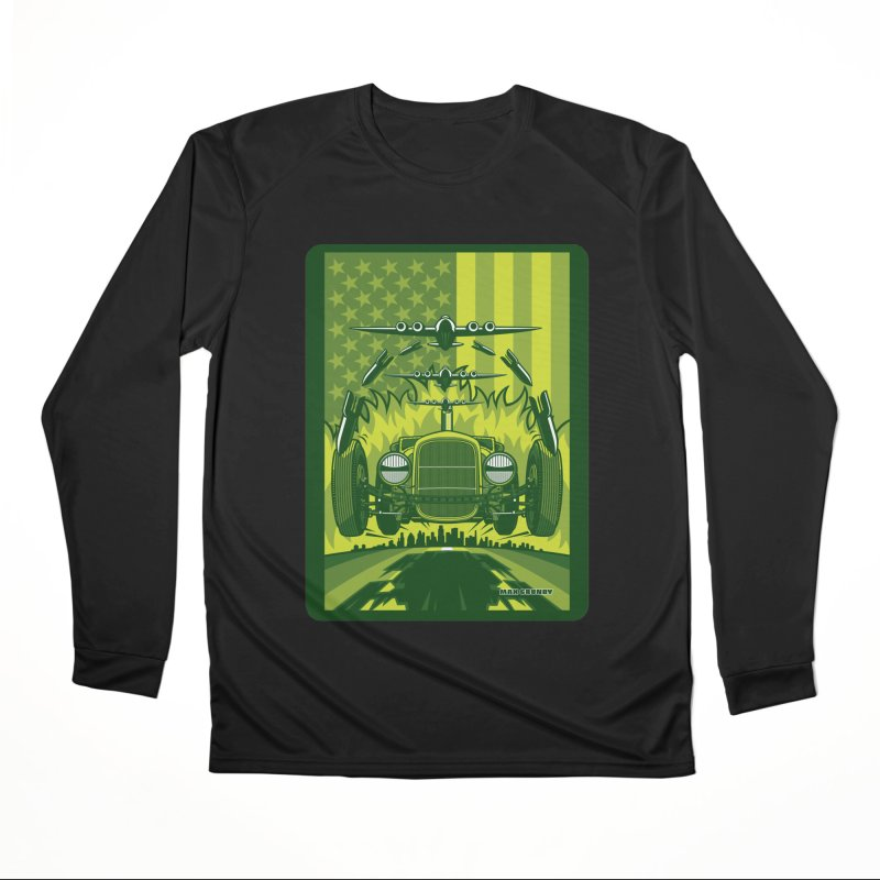 THE GREEN AGENDA (fallout edition) Men's Performance Longsleeve T-Shirt by Max Grundy Design's Artist Shop