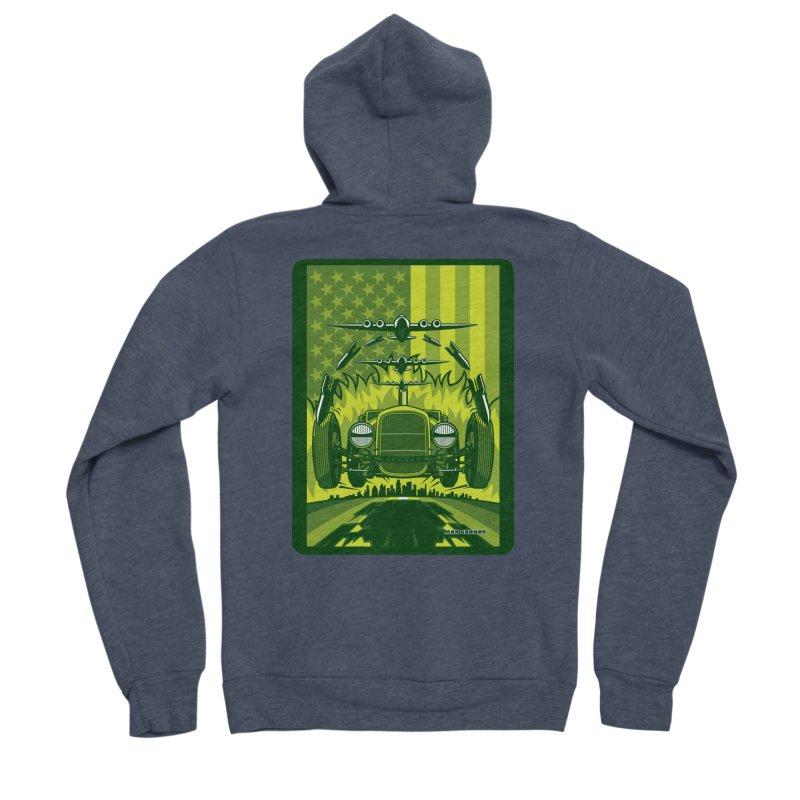 THE GREEN AGENDA (fallout edition) Men's Sponge Fleece Zip-Up Hoody by Max Grundy Design's Artist Shop