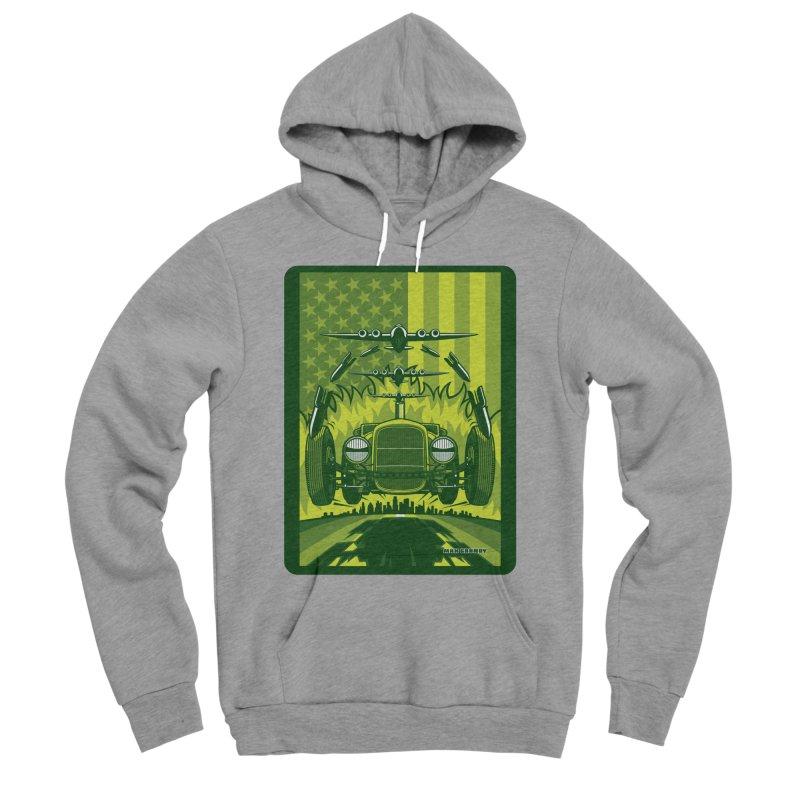 THE GREEN AGENDA (fallout edition) Men's Sponge Fleece Pullover Hoody by Max Grundy Design's Artist Shop