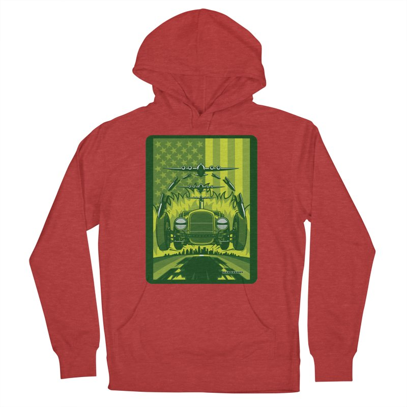THE GREEN AGENDA (fallout edition) Men's French Terry Pullover Hoody by Max Grundy Design's Artist Shop