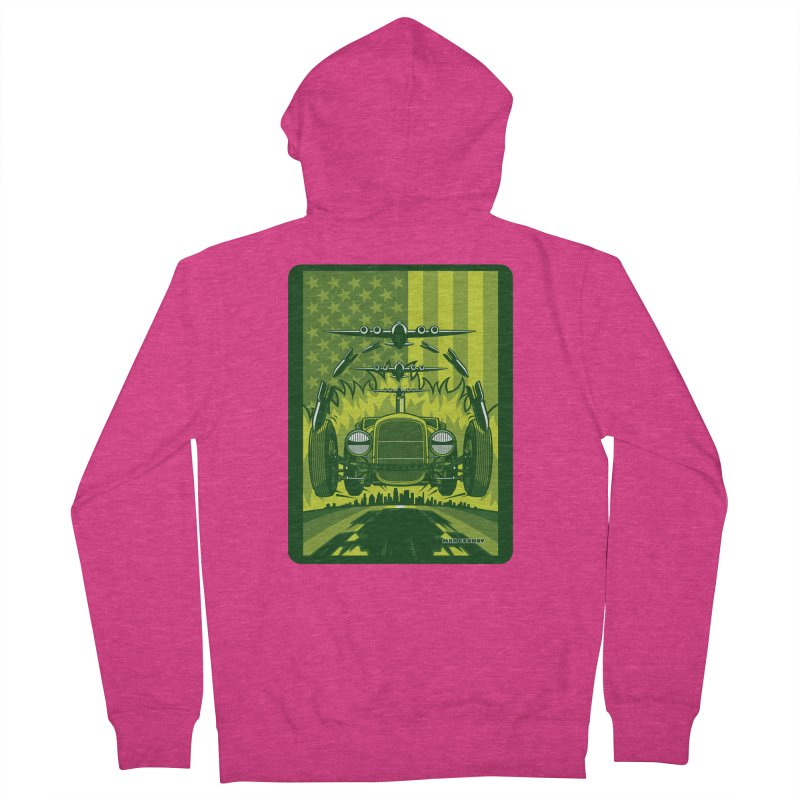 THE GREEN AGENDA (fallout edition) Women's French Terry Zip-Up Hoody by Max Grundy Design's Artist Shop