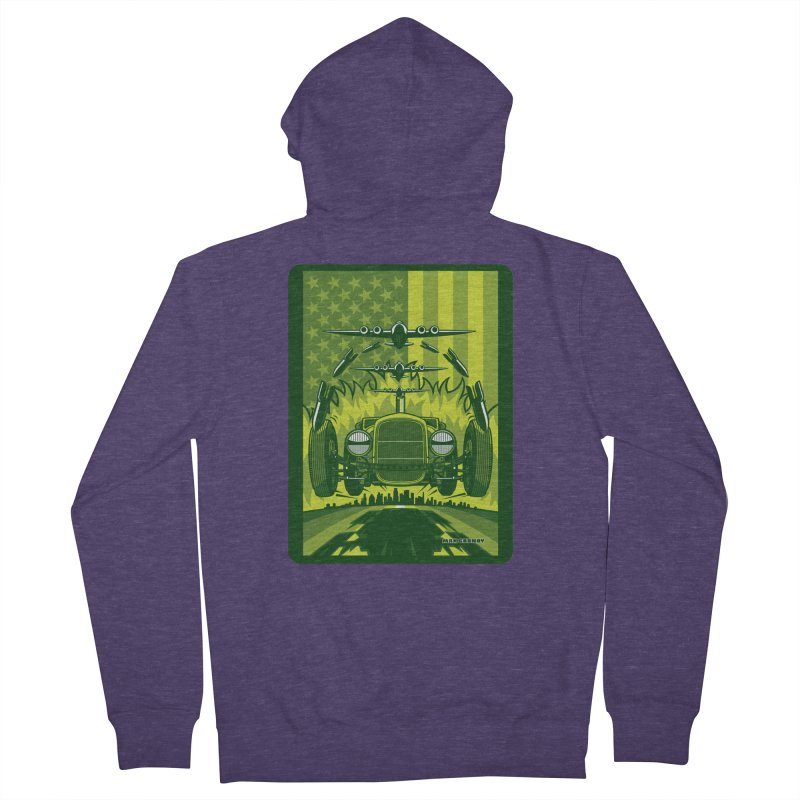 THE GREEN AGENDA (fallout edition) Men's French Terry Zip-Up Hoody by Max Grundy Design's Artist Shop