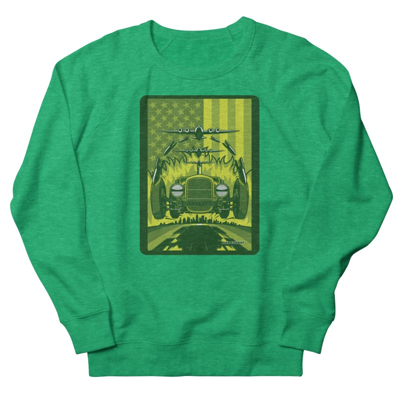 THE GREEN AGENDA (fallout edition) Women's French Terry Sweatshirt by Max Grundy Design's Artist Shop