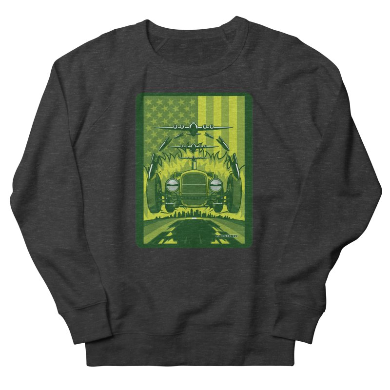 THE GREEN AGENDA (fallout edition) Men's French Terry Sweatshirt by Max Grundy Design's Artist Shop