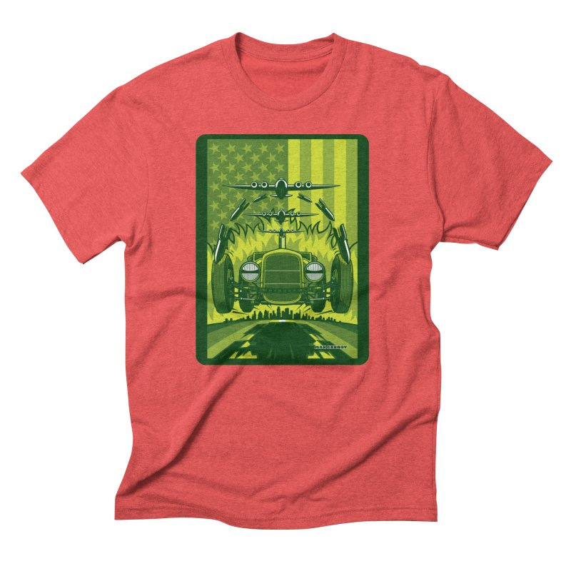 THE GREEN AGENDA (fallout edition) Men's Triblend T-Shirt by Max Grundy Design's Artist Shop