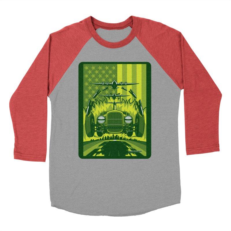 THE GREEN AGENDA (fallout edition) Women's Baseball Triblend Longsleeve T-Shirt by Max Grundy Design's Artist Shop