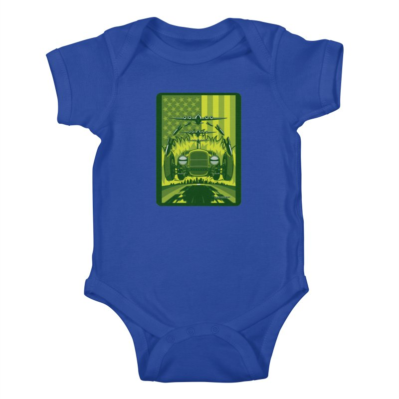 THE GREEN AGENDA (fallout edition) Kids Baby Bodysuit by Max Grundy Design's Artist Shop