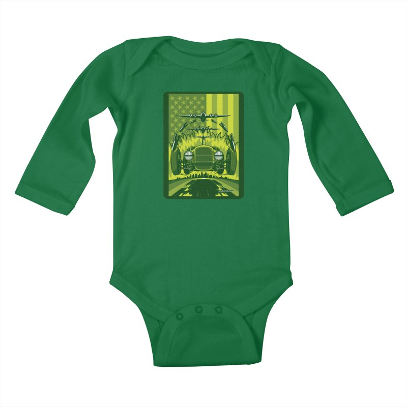 THE GREEN AGENDA (fallout edition) Kids Baby Longsleeve Bodysuit by Max Grundy Design's Artist Shop