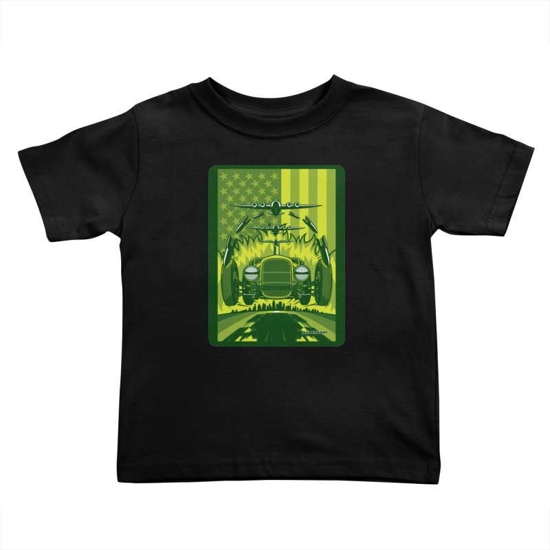 THE GREEN AGENDA (fallout edition) Kids Toddler T-Shirt by Max Grundy Design's Artist Shop