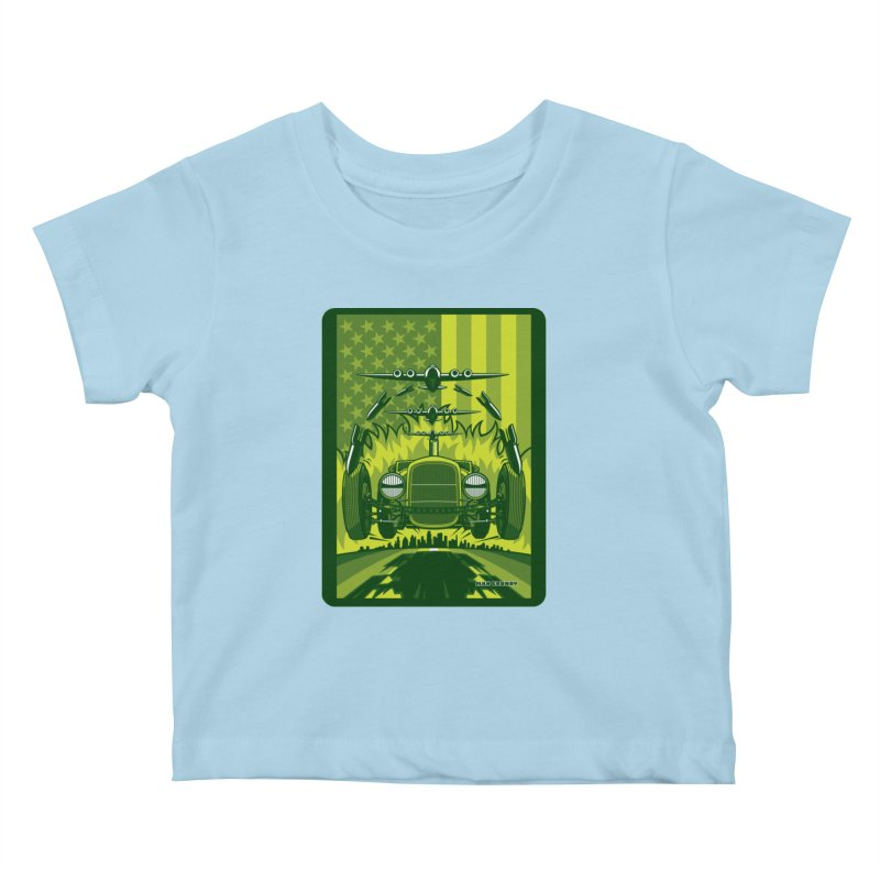 THE GREEN AGENDA (fallout edition) Kids Baby T-Shirt by Max Grundy Design's Artist Shop