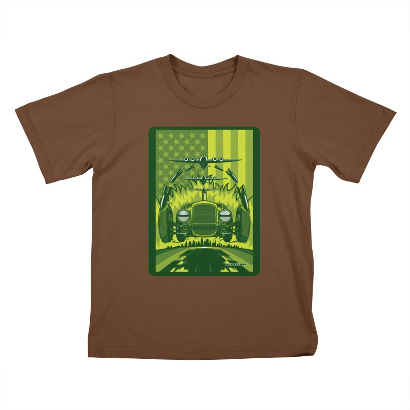 THE GREEN AGENDA (fallout edition) Kids T-Shirt by Max Grundy Design's Artist Shop