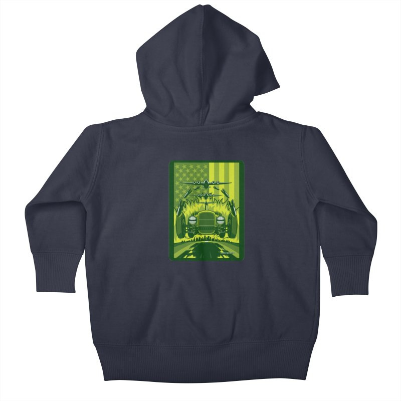 THE GREEN AGENDA (fallout edition) Kids Baby Zip-Up Hoody by Max Grundy Design's Artist Shop