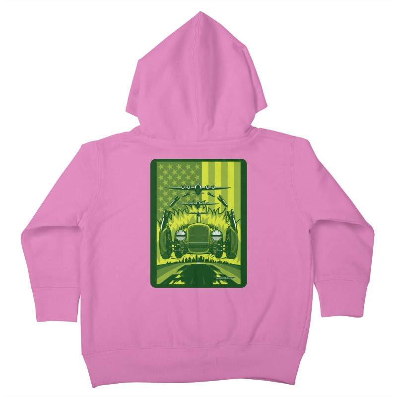 THE GREEN AGENDA (fallout edition) Kids Toddler Zip-Up Hoody by Max Grundy Design's Artist Shop