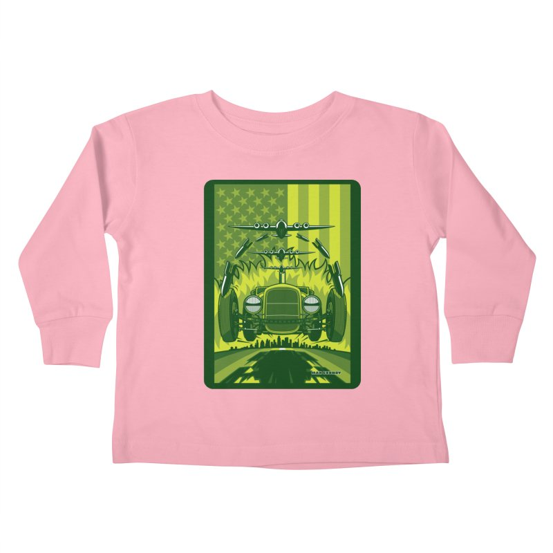 THE GREEN AGENDA (fallout edition) Kids Toddler Longsleeve T-Shirt by Max Grundy Design's Artist Shop