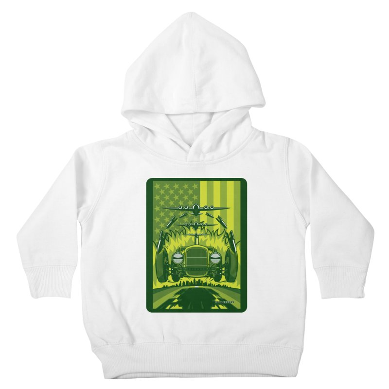 THE GREEN AGENDA (fallout edition) Kids Toddler Pullover Hoody by Max Grundy Design's Artist Shop