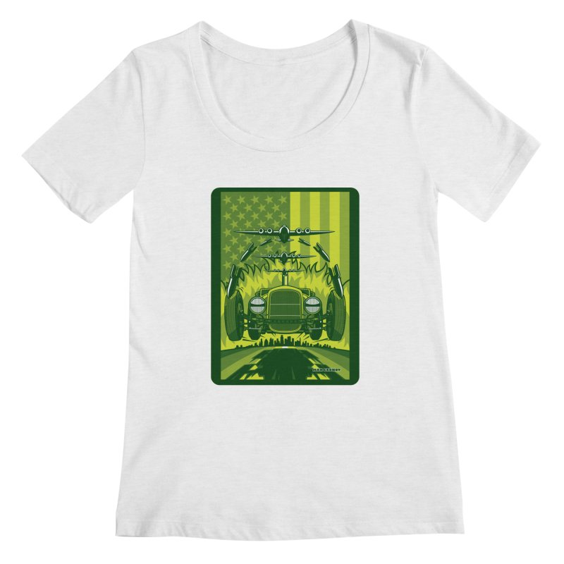 THE GREEN AGENDA (fallout edition) Women's Regular Scoop Neck by Max Grundy Design's Artist Shop