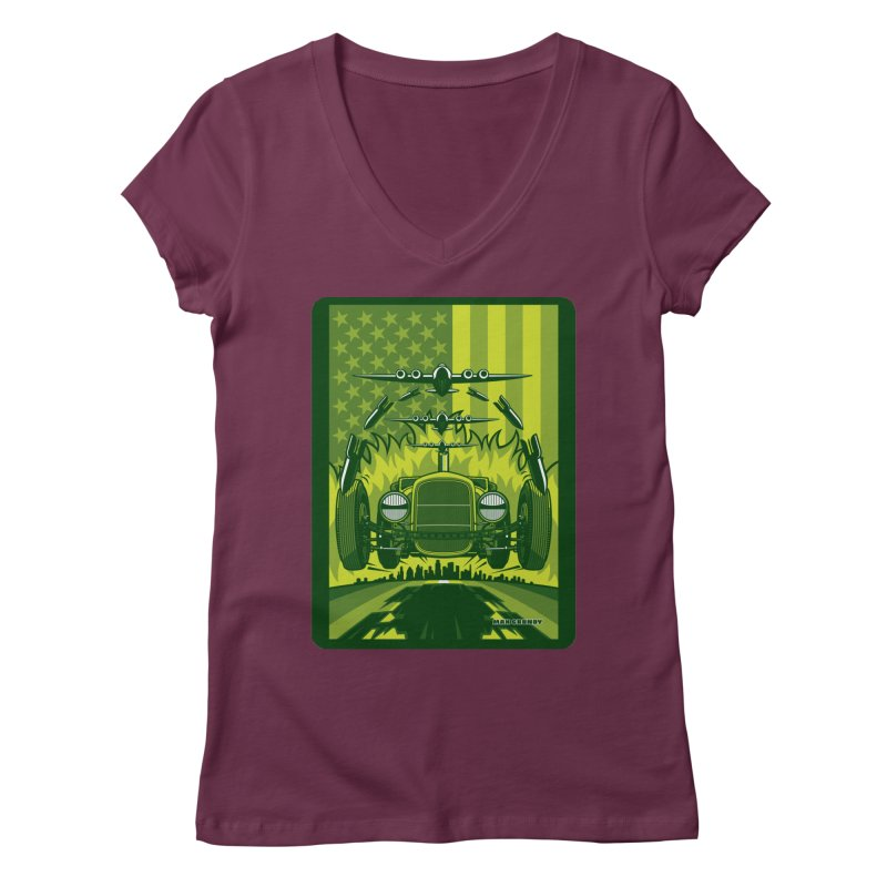 THE GREEN AGENDA (fallout edition) Women's Regular V-Neck by Max Grundy Design's Artist Shop