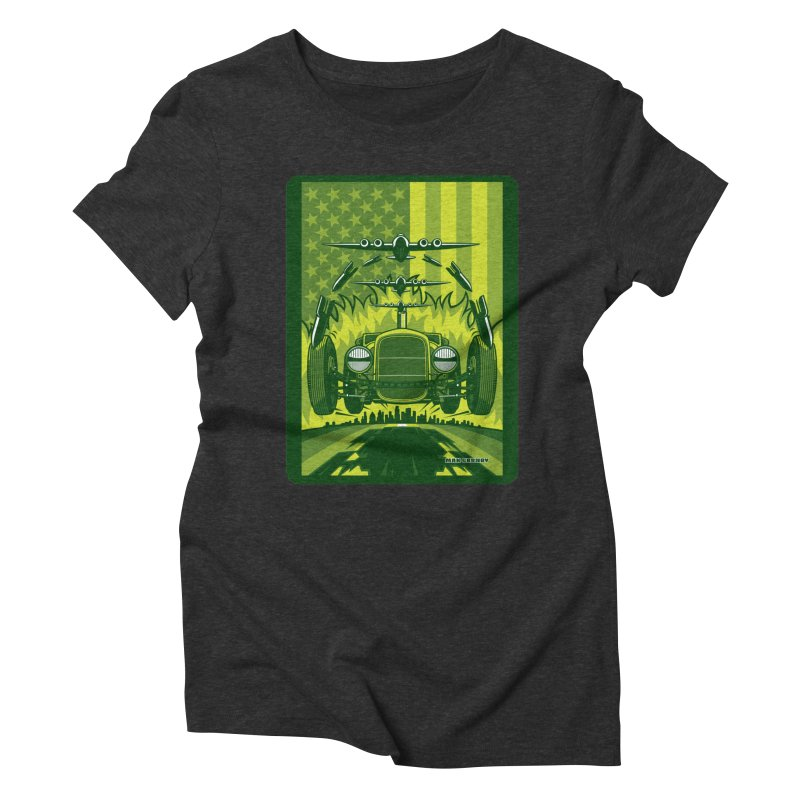 THE GREEN AGENDA (fallout edition) Women's Triblend T-Shirt by Max Grundy Design's Artist Shop