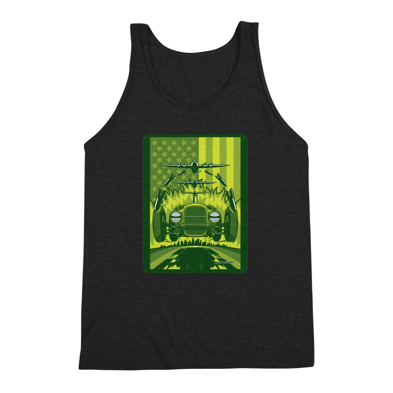 THE GREEN AGENDA (fallout edition) Men's Triblend Tank by Max Grundy Design's Artist Shop
