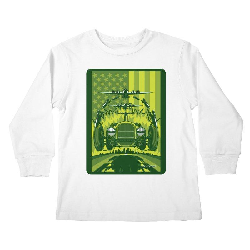 THE GREEN AGENDA (fallout edition) Kids Longsleeve T-Shirt by Max Grundy Design's Artist Shop