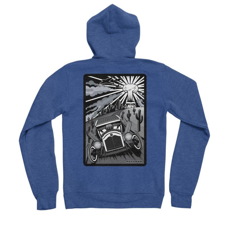 ESCAPE FROM L.A. (original version) Men's Sponge Fleece Zip-Up Hoody by Max Grundy Design's Artist Shop