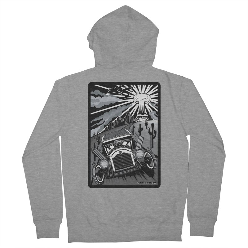 ESCAPE FROM L.A. (original version) Women's French Terry Zip-Up Hoody by Max Grundy Design's Artist Shop