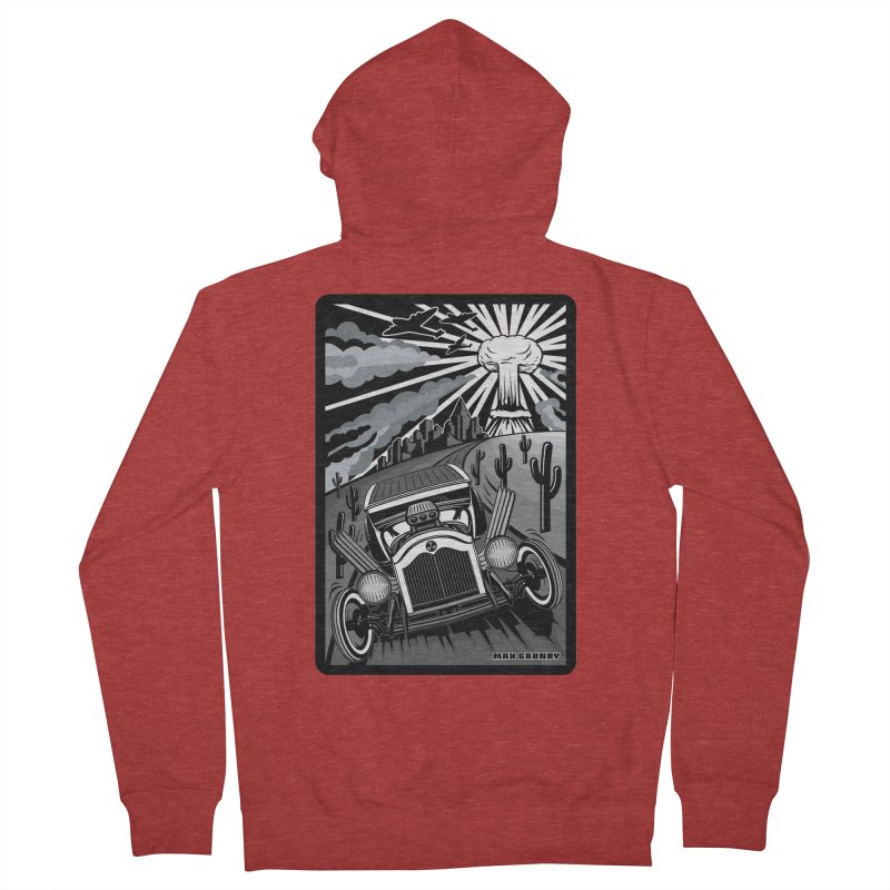 ESCAPE FROM L.A. (original version) Men's French Terry Zip-Up Hoody by Max Grundy Design's Artist Shop