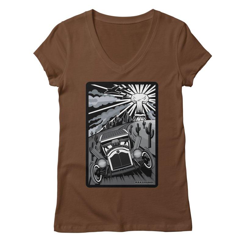ESCAPE FROM L.A. (original version) Women's Regular V-Neck by Max Grundy Design's Artist Shop
