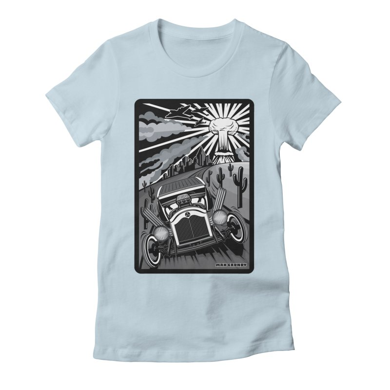 ESCAPE FROM L.A. (original version) Women's Fitted T-Shirt by Max Grundy Design's Artist Shop