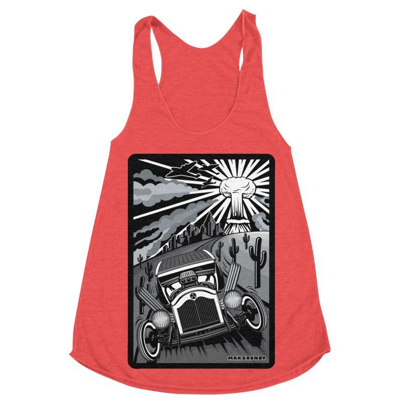 ESCAPE FROM L.A. (original version) Women's Racerback Triblend Tank by Max Grundy Design's Artist Shop