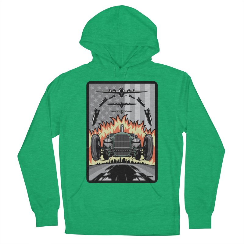 THE GREEN AGENDA (original version) Men's French Terry Pullover Hoody by Max Grundy Design's Artist Shop