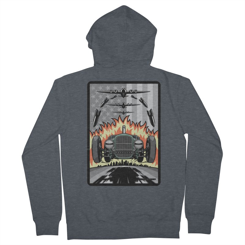 THE GREEN AGENDA (original version) Women's French Terry Zip-Up Hoody by Max Grundy Design's Artist Shop