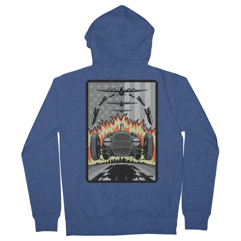 THE GREEN AGENDA (original version) Men's French Terry Zip-Up Hoody by Max Grundy Design's Artist Shop