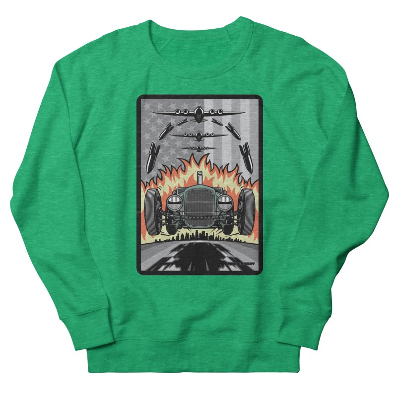 THE GREEN AGENDA (original version) Men's French Terry Sweatshirt by Max Grundy Design's Artist Shop