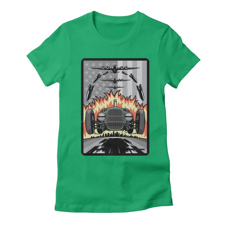 THE GREEN AGENDA (original version) Women's Fitted T-Shirt by Max Grundy Design's Artist Shop
