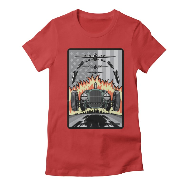 THE GREEN AGENDA (original version) Women's Fitted T-Shirt by Max Grundy Design's Artist Shop