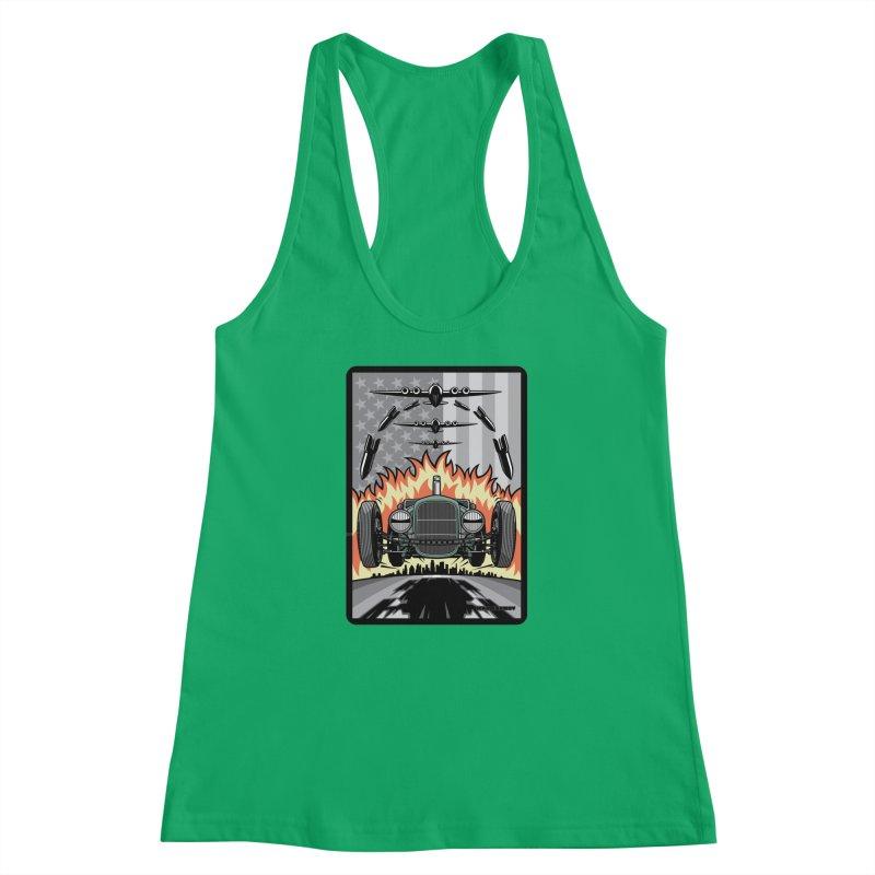 THE GREEN AGENDA (original version) Women's Racerback Tank by Max Grundy Design's Artist Shop