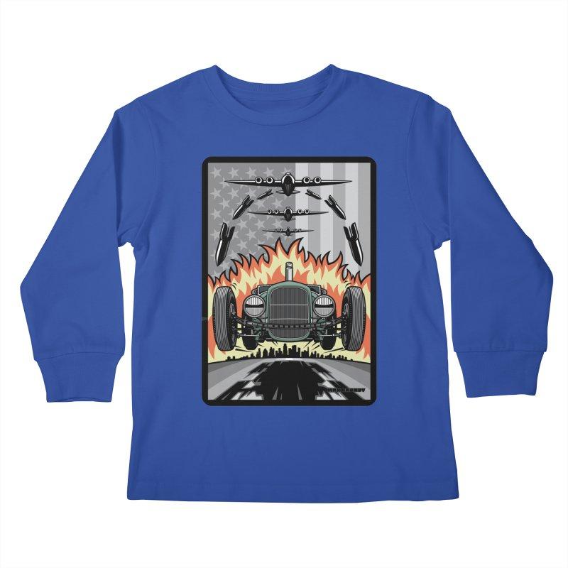 THE GREEN AGENDA (original version) Kids Longsleeve T-Shirt by Max Grundy Design's Artist Shop