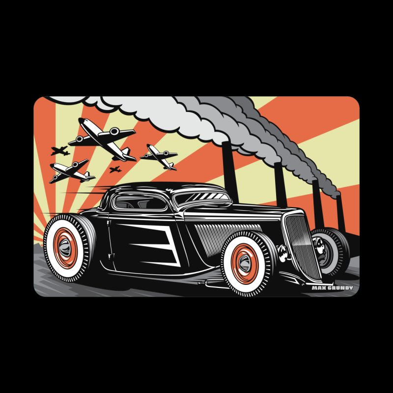 RED DAWN Accessories Magnet by Max Grundy Design's Artist Shop