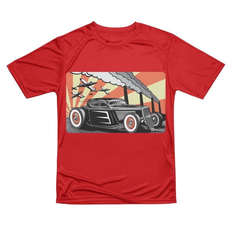 RED DAWN Men's Performance T-Shirt by Max Grundy Design's Artist Shop