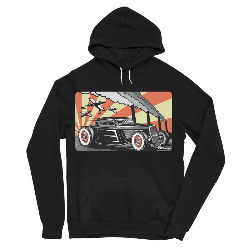 RED DAWN Men's Sponge Fleece Pullover Hoody by Max Grundy Design's Artist Shop