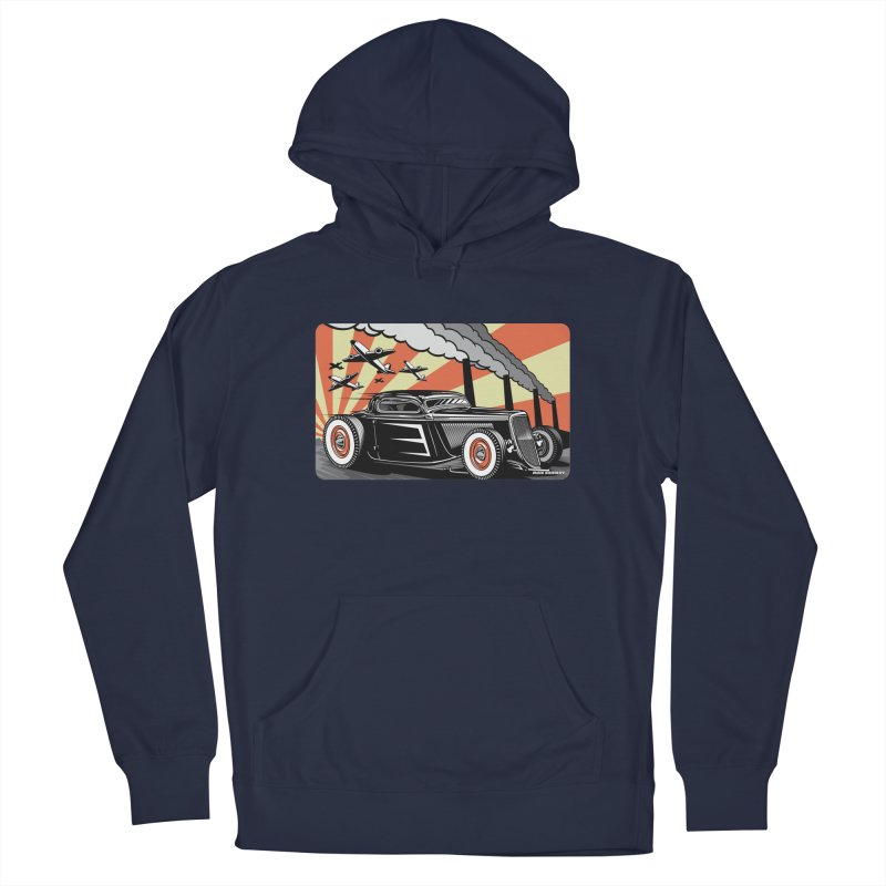 RED DAWN Women's French Terry Pullover Hoody by Max Grundy Design's Artist Shop