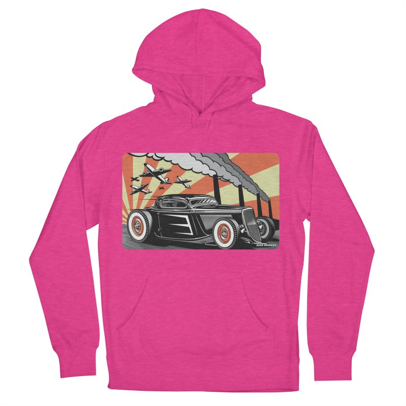 RED DAWN Men's French Terry Pullover Hoody by Max Grundy Design's Artist Shop