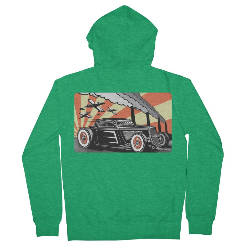 RED DAWN Men's French Terry Zip-Up Hoody by Max Grundy Design's Artist Shop