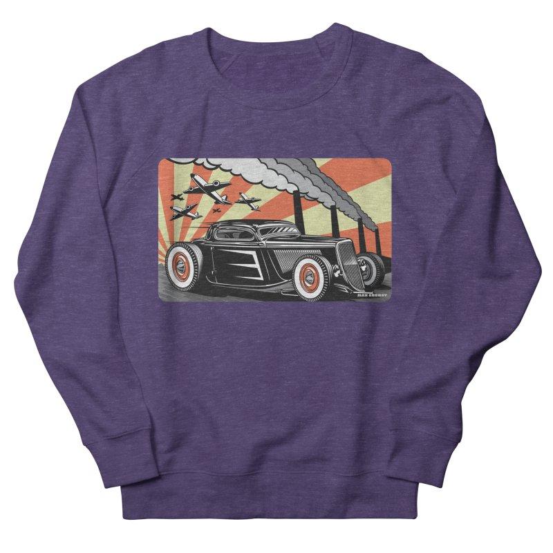 RED DAWN Men's French Terry Sweatshirt by Max Grundy Design's Artist Shop