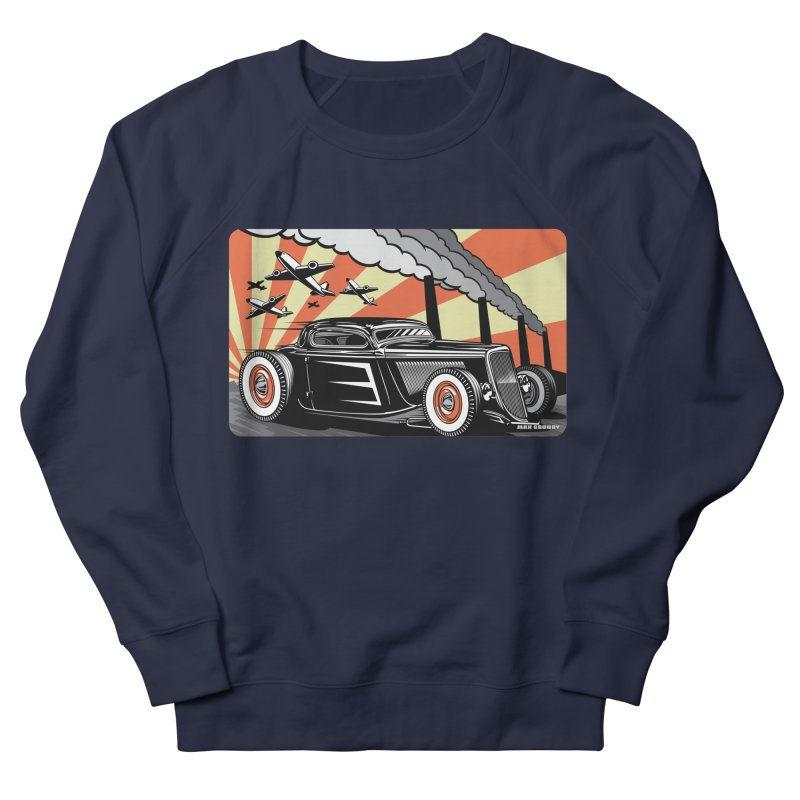 RED DAWN Men's French Terry Sweatshirt by Max Grundy Design's Artist Shop