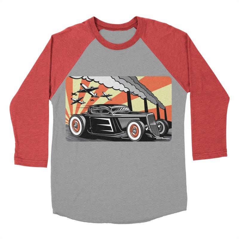 RED DAWN Women's Baseball Triblend Longsleeve T-Shirt by Max Grundy Design's Artist Shop